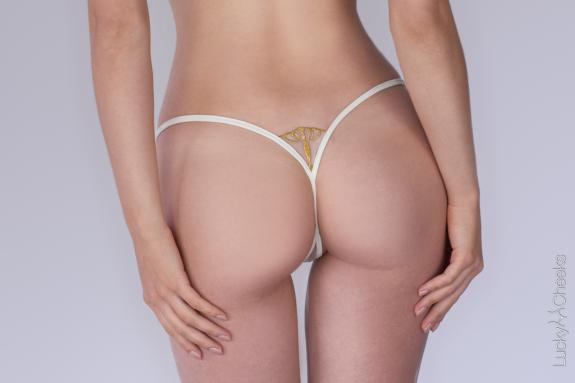 Queen of Love Ivory thong